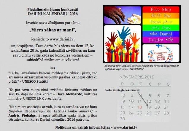 Darini kalendaru 2016 uzsaukums